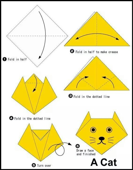 اوریگامی گربه