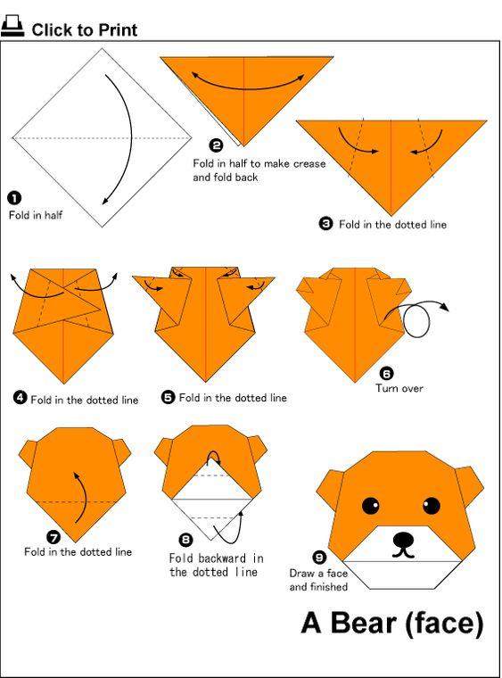 اوریگامی خرس
