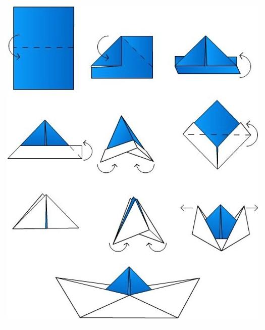 آموزش اوریگامی قایق