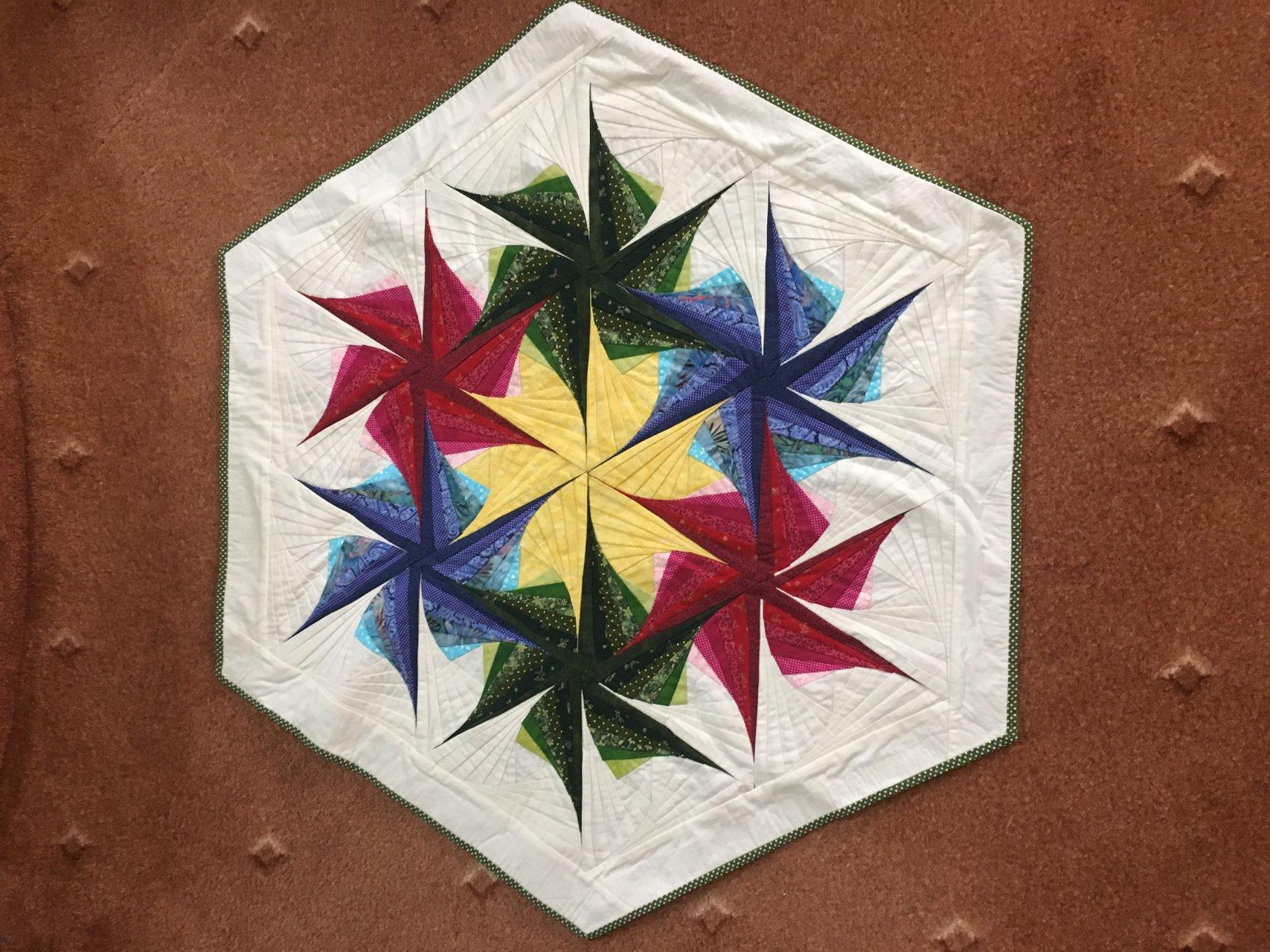رومیزی رانر توئیست مثلث 97x97 سانتی متر