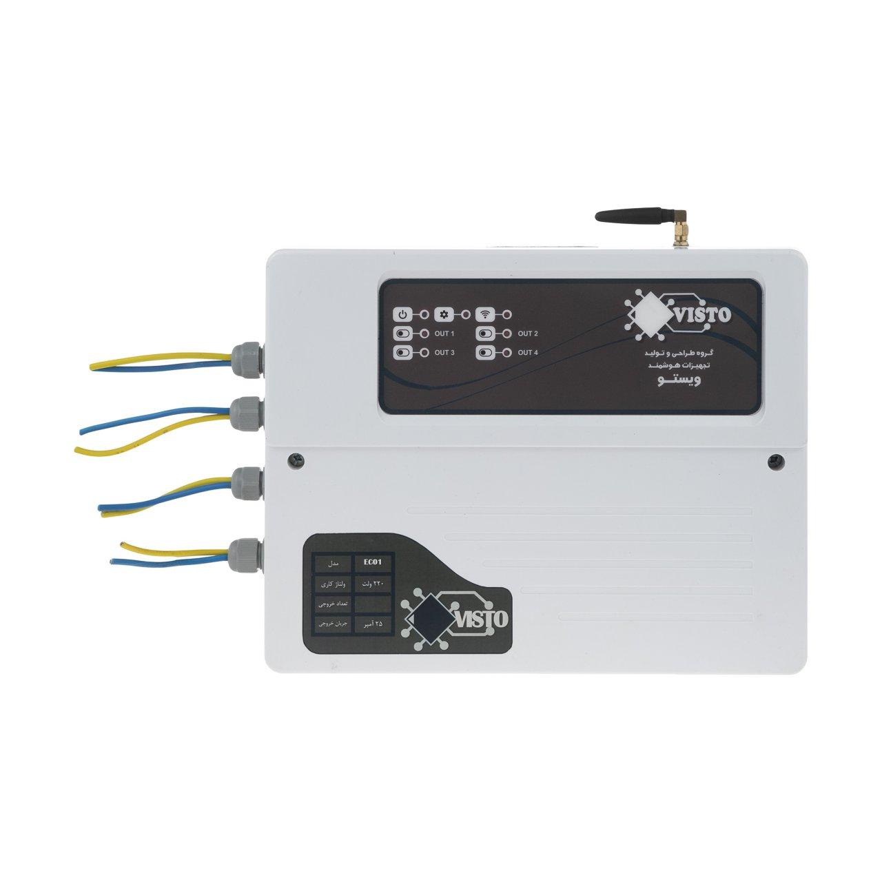 سیستم هوشمند کنترل از راه دور پیامکی ویستو مناسب برای آبیاری و کنترل وسایل مدل چهار خروجی (EC04)