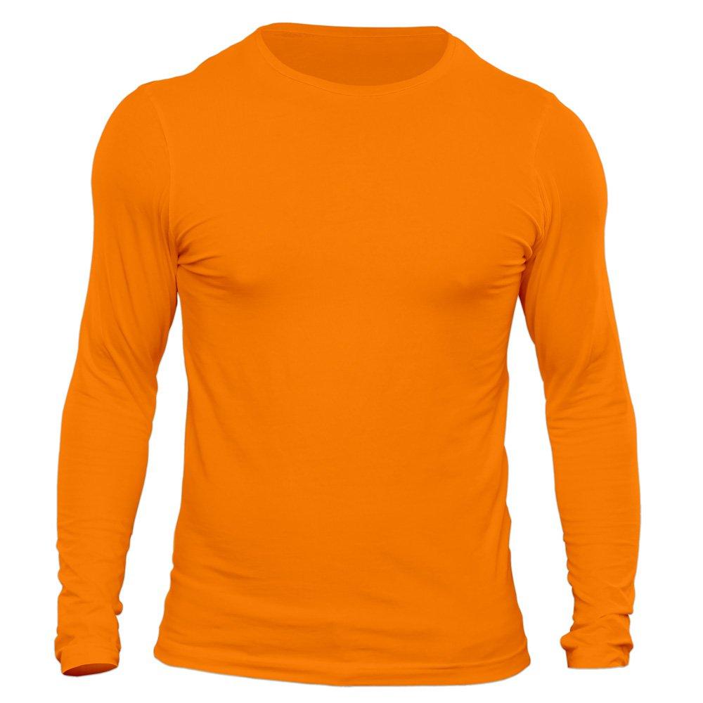 تیشرت آستین بلند مردانه کد 3TOR رنگ نارنجی