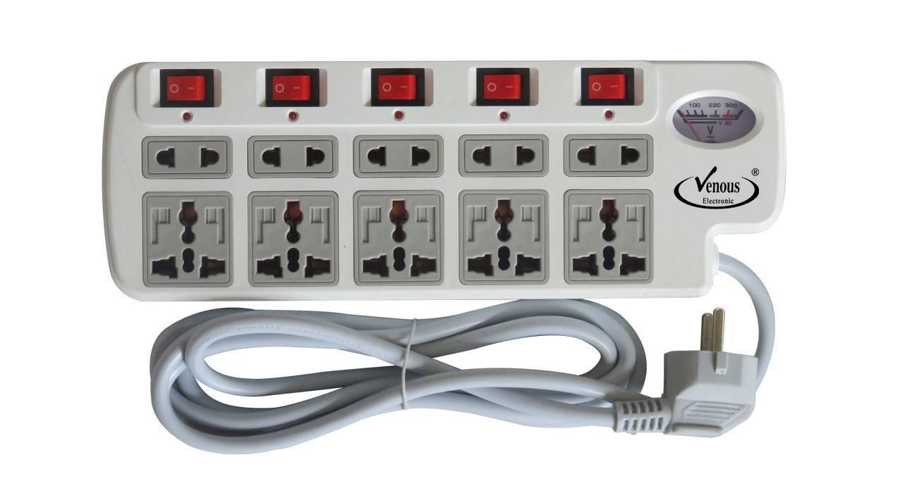چندراهی برق و محافظ ونوس مدل S883