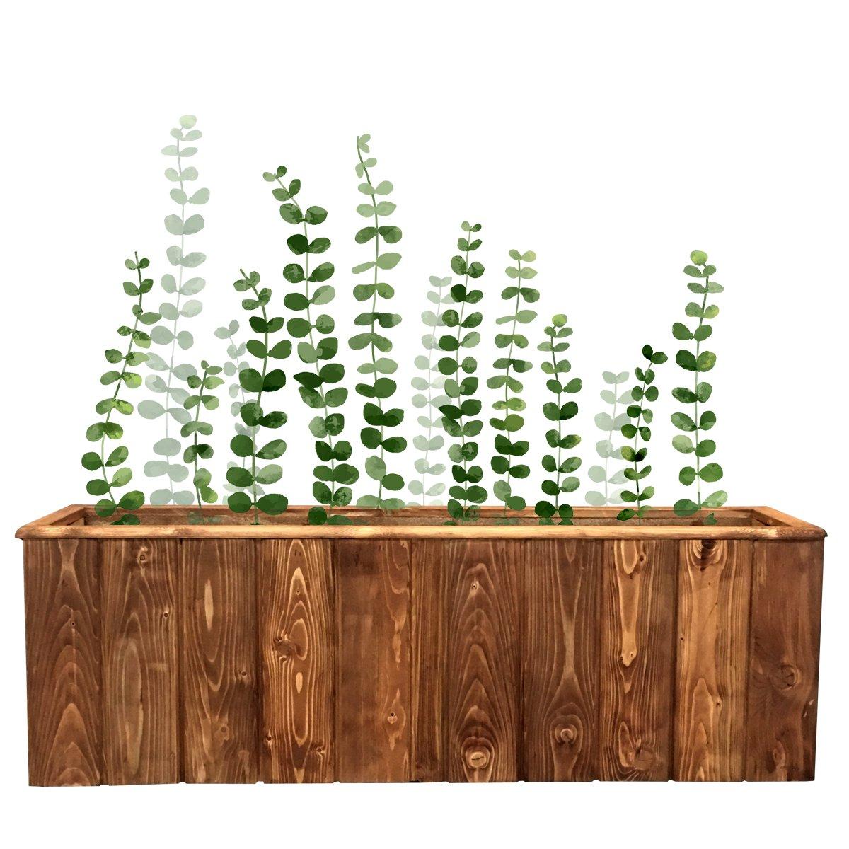 فلاورباکس چوبی مناسب برای گیاهان آپارتمانی