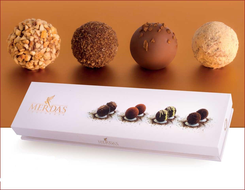 شکلات ترافل با روکش و طعم های مختلف