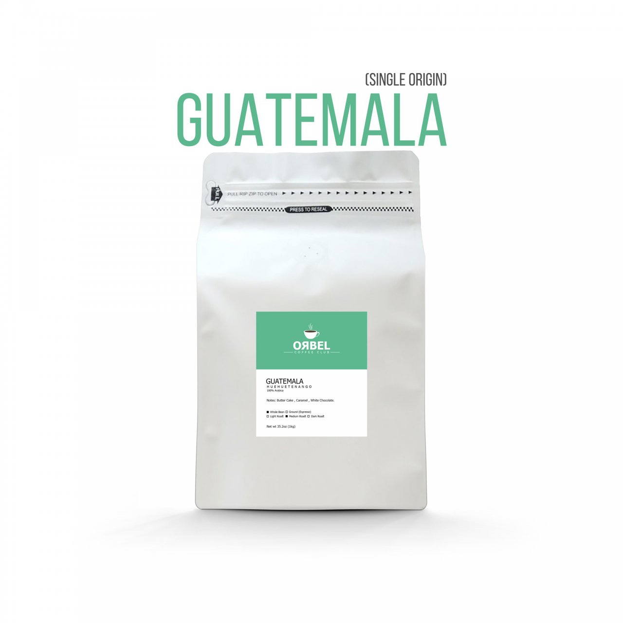 دانه قهوه اربل مدل گواتمالا سینگل اورجین 1 کیلوگرم