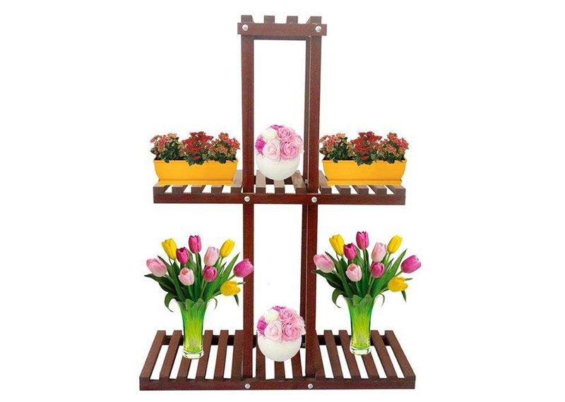 استند چوبی گل و گلدان مدل s4