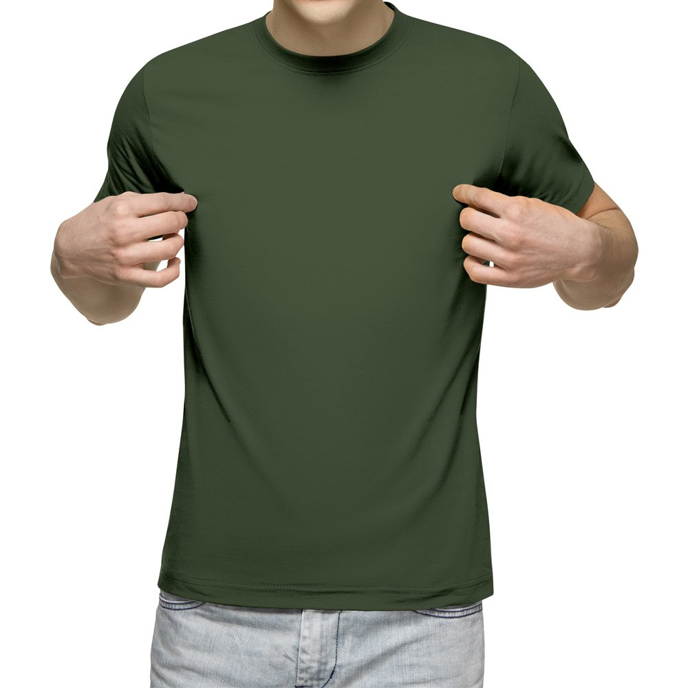 تیشرت آستین کوتاه مردانه کد 1ZGR رنگ سبز ارتشی
