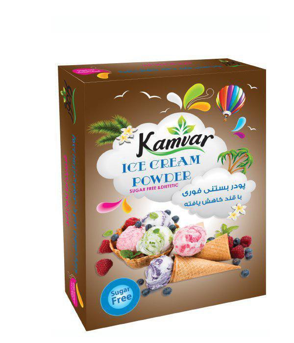 پودر بستنی شکلاتی رژیمی کامور