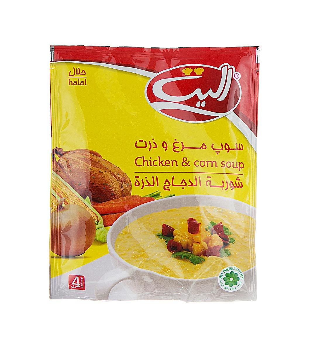 سوپ مرغ و ذرت آماده الیت 68 گرمی