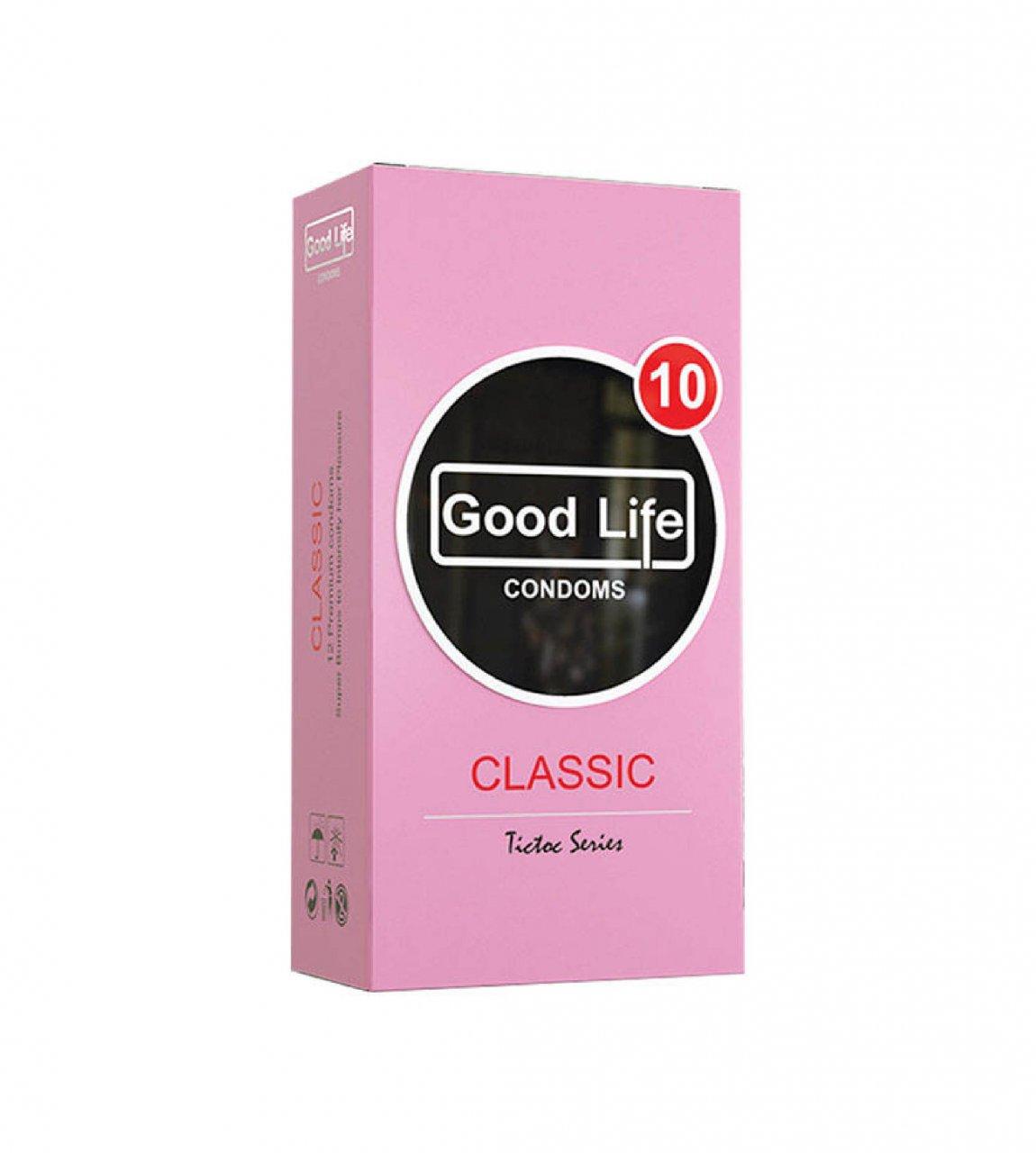 کاندوم گودلایف مدل CLASSIC بسته 12 عددی