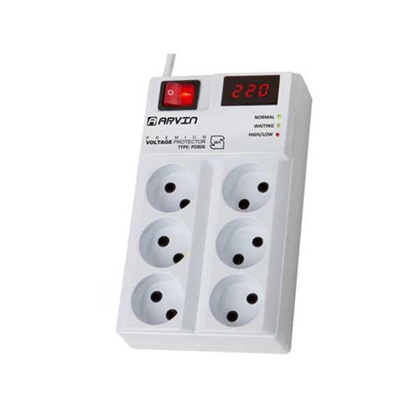 محافظ دیجیتال لوازم صوتی و تصویری پایا کنترل مدل ۶ پریز