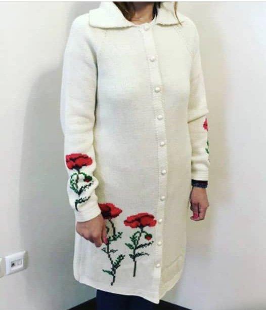 مانتو زنانه گلدوزی شده