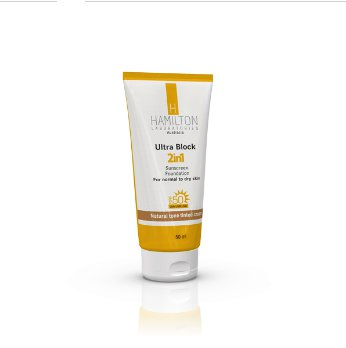 ضد آفتاب رنگ طبیعی پوست نرمال 2در1 HAMILTON