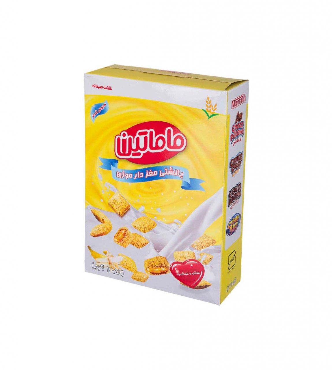 غلات صبحانه بالشتی مغزدار موزی ماماتین 275 گرم