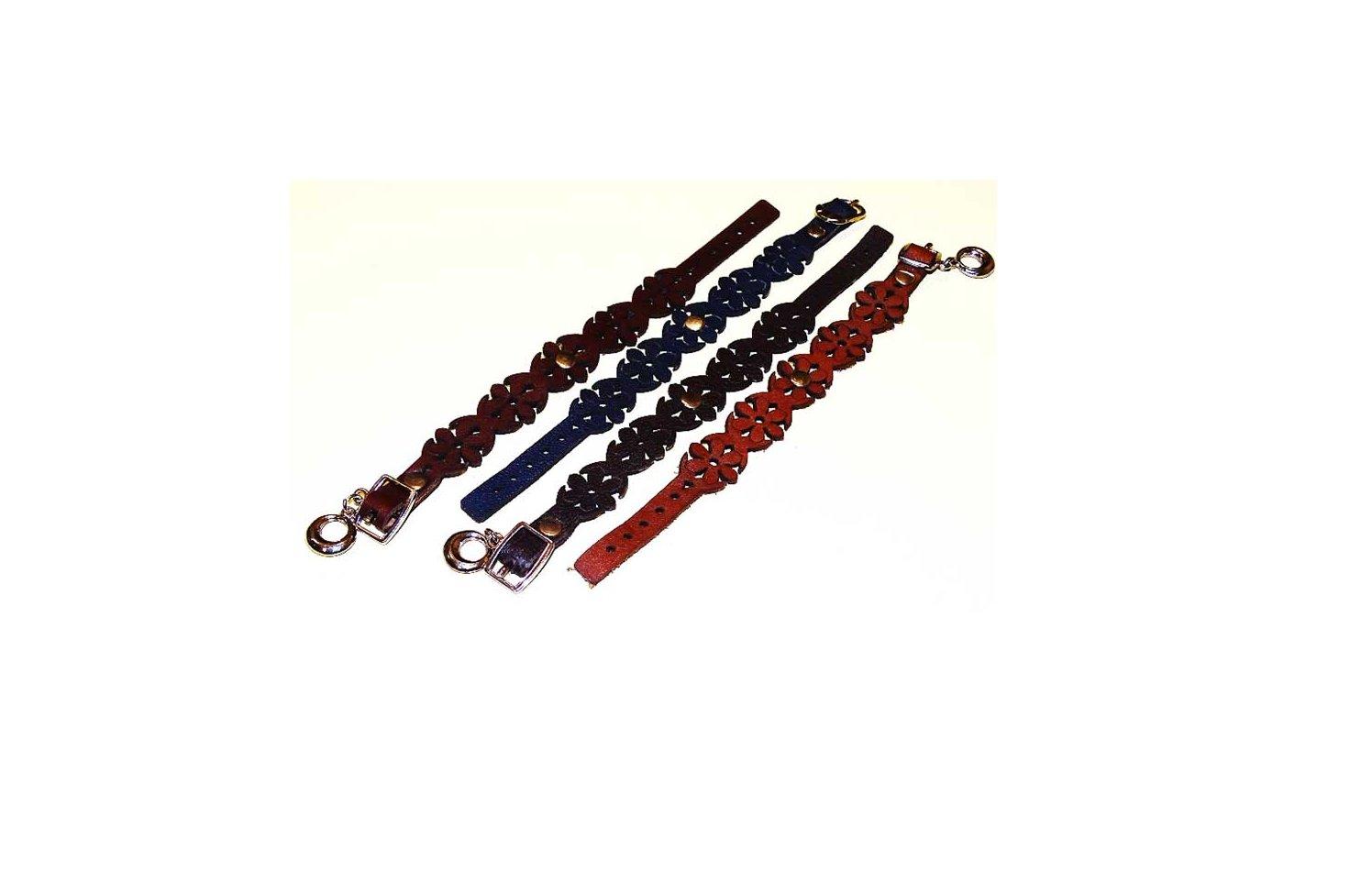 دستبند چرمی طرح گلسا چرم گاو