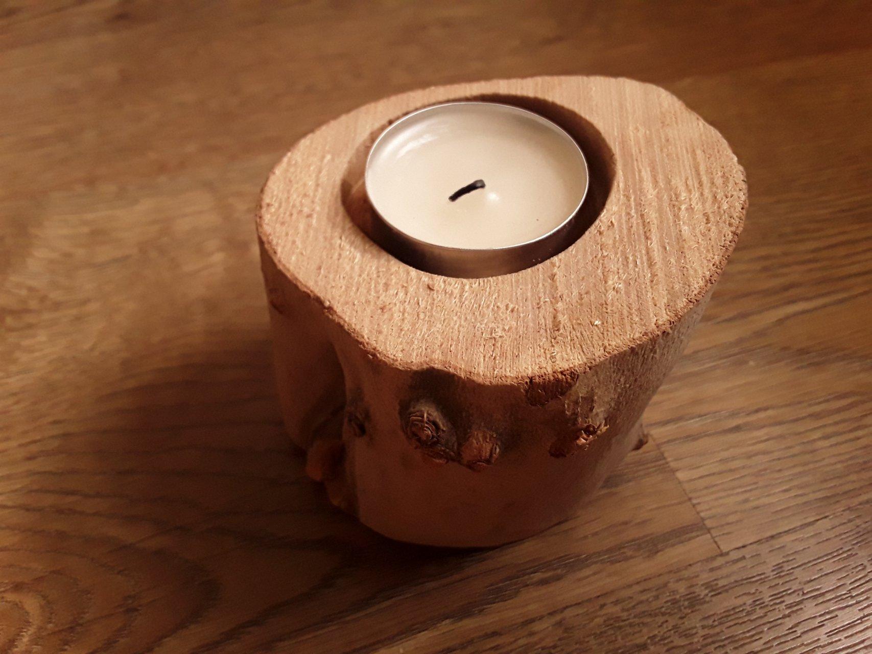 جا شمعی چوبی جنگلی