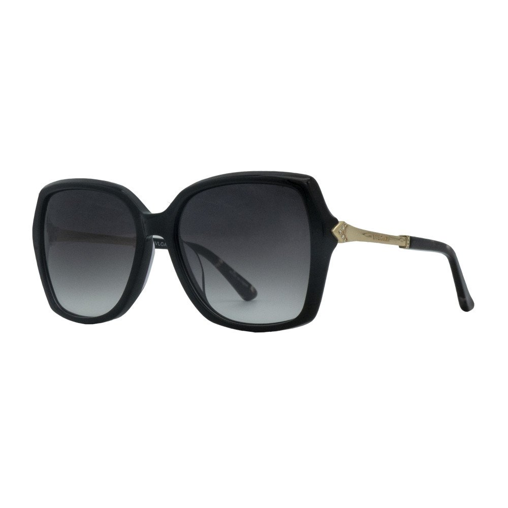 عینک آفتابی بولگاری مشکی مدل BV8206