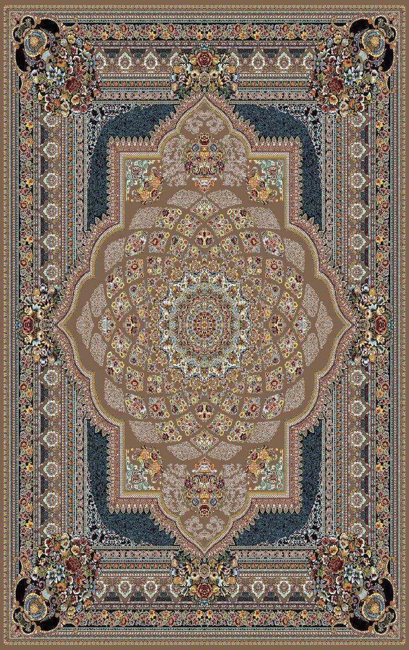 فرش نقش دایانا گردویی رنگ 700 شانه 12 متری