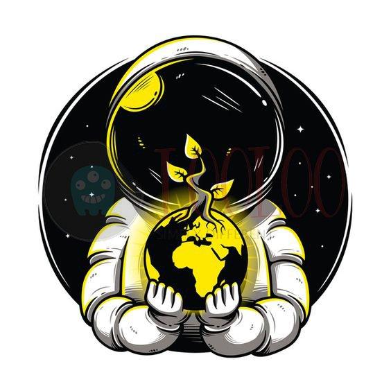استیکر فضانورد از مجموعه کهکشان لولو استیکر