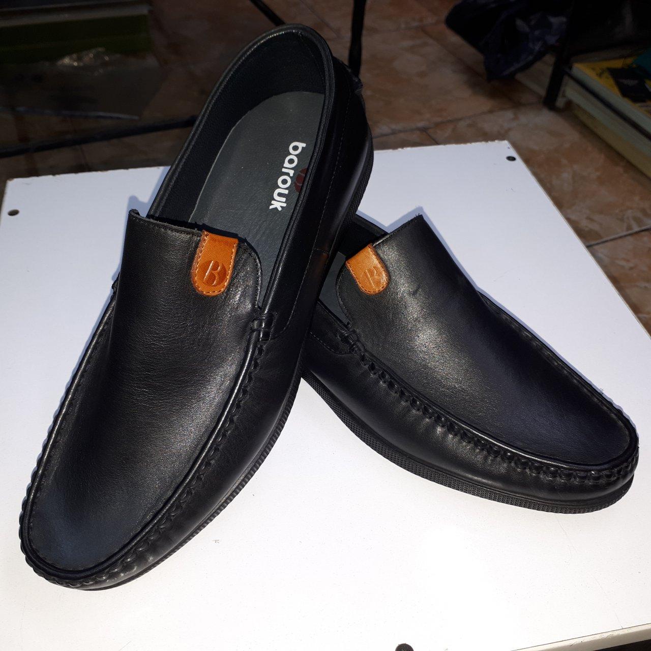 کفش چرم مردانه باروک مدل کالج