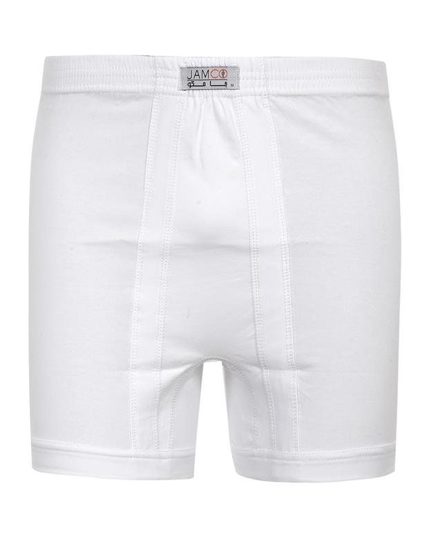 شورت مردانه سفید برند جامکو سایز مدیوم