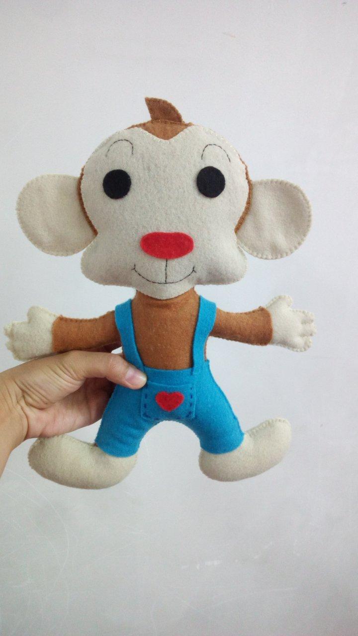 عروسک میمون نمدی