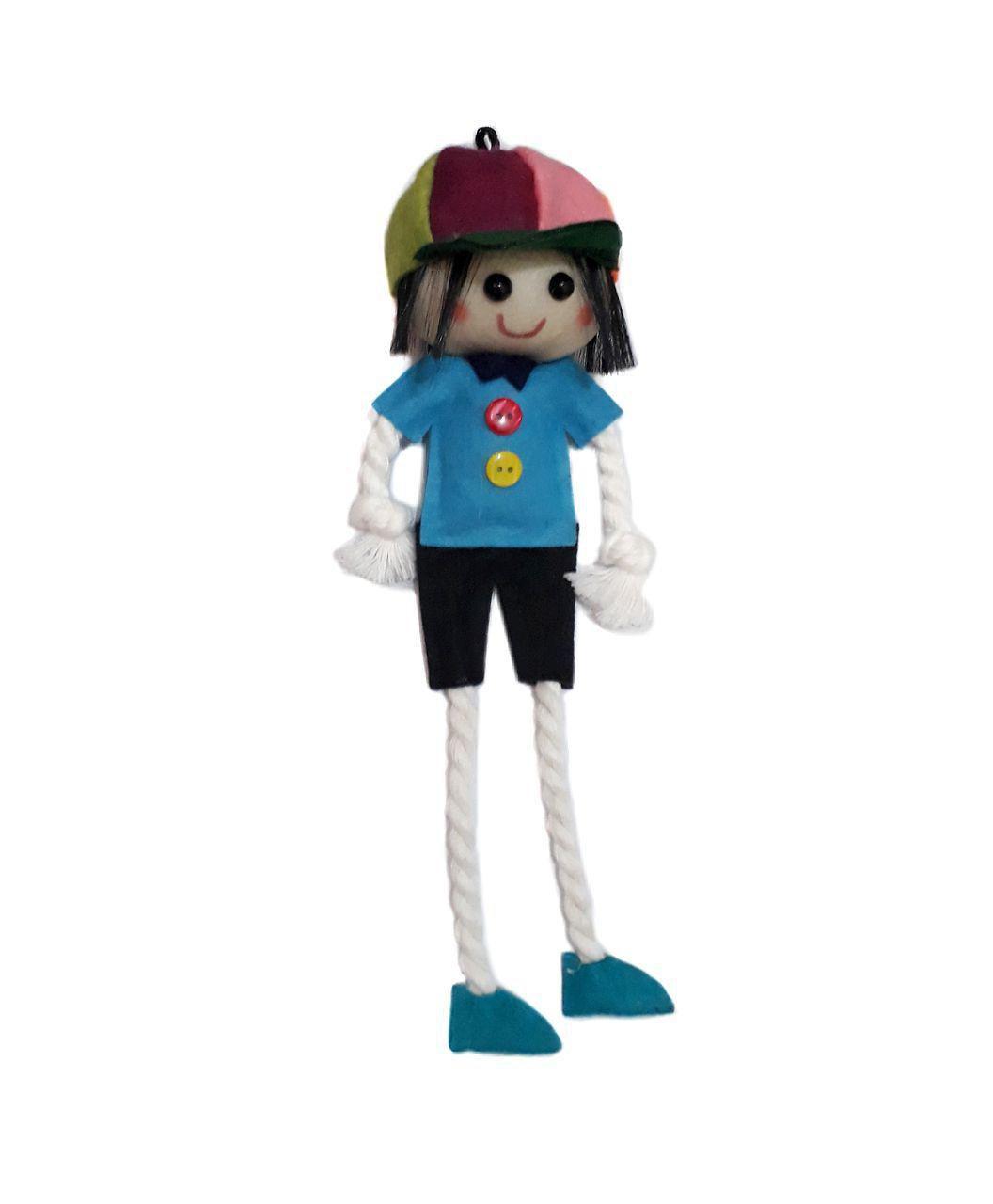 مگنت یخچال عروسک پسر نمدی آویزی