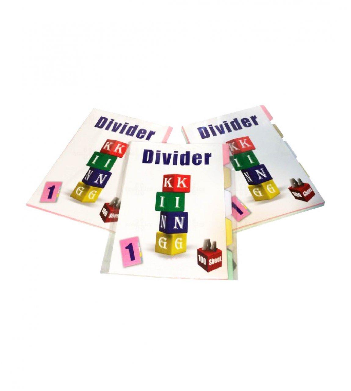 دیوایدر 5 رنگ مدل COVERMAX تعداد 100 عددی