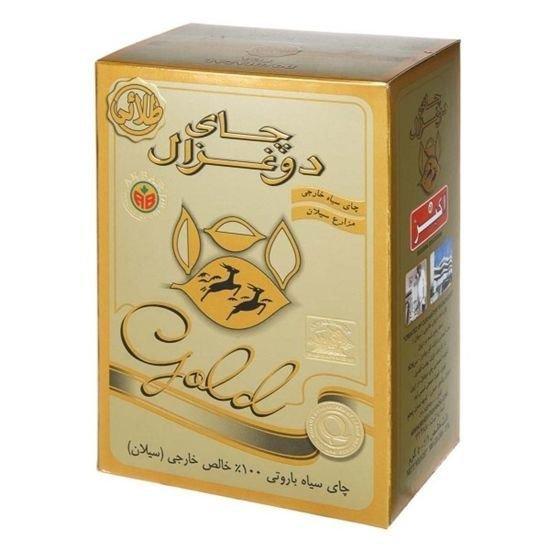 چای دو غزال طلایی باروتی مقدار 500 گرم