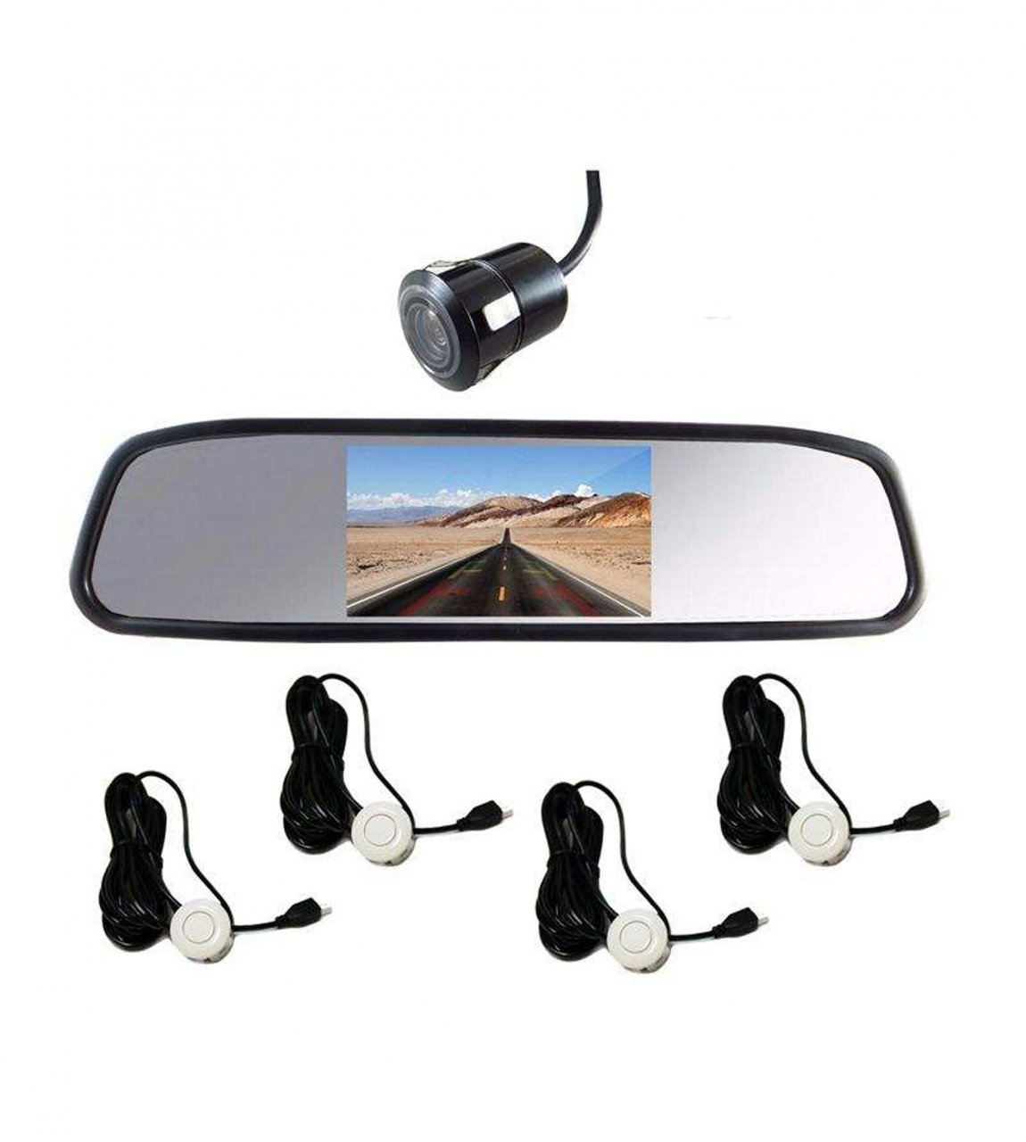 آینه مانیتوردار و دوربین دنده عقب کلارو مدل CL-409S