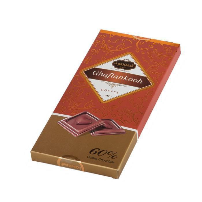 شکلات تابلت شیری 60% قافلانکوه 80 گرم
