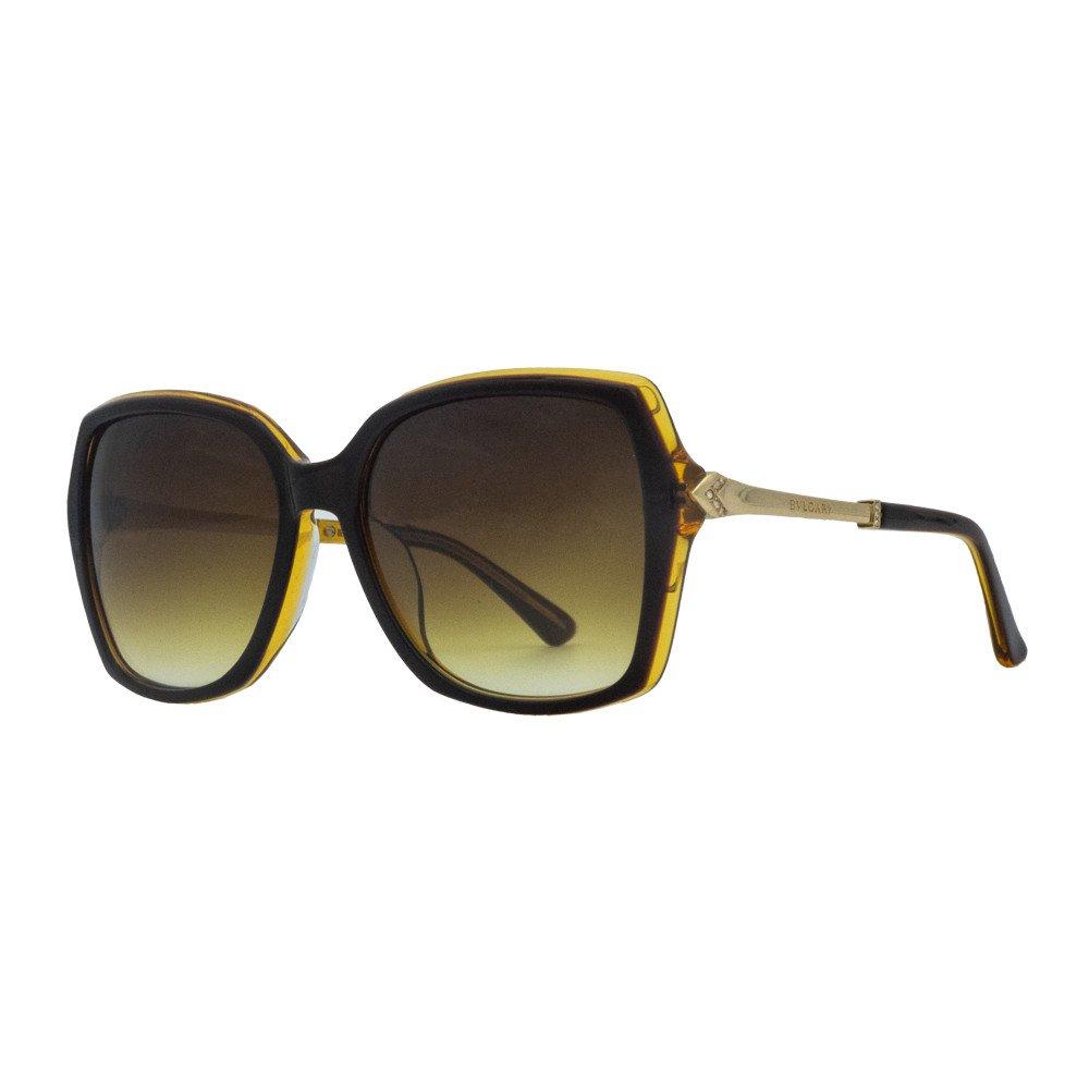 عینک آفتابی بولگاری قهوه ای مدل BV8206