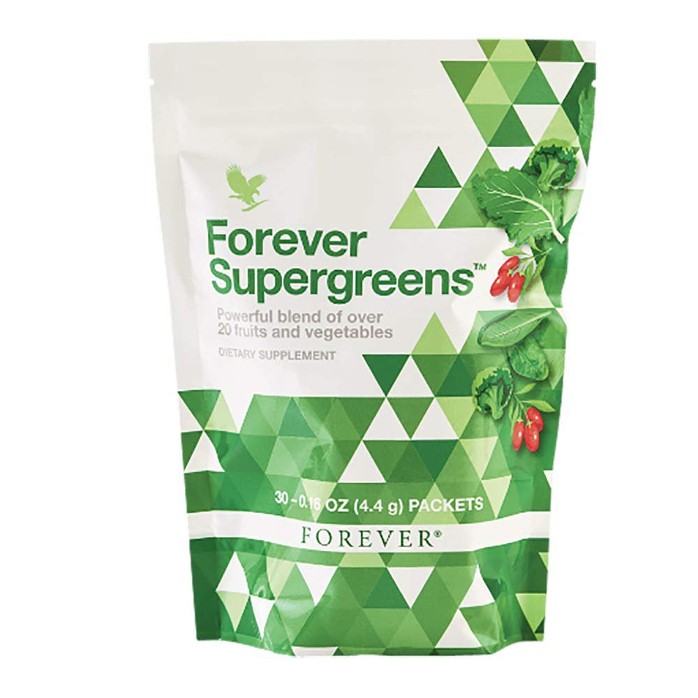 پودر سبزیجات فوراور سوپر گرینز محتوی ۳۰ بسته ۴.۴ گرم