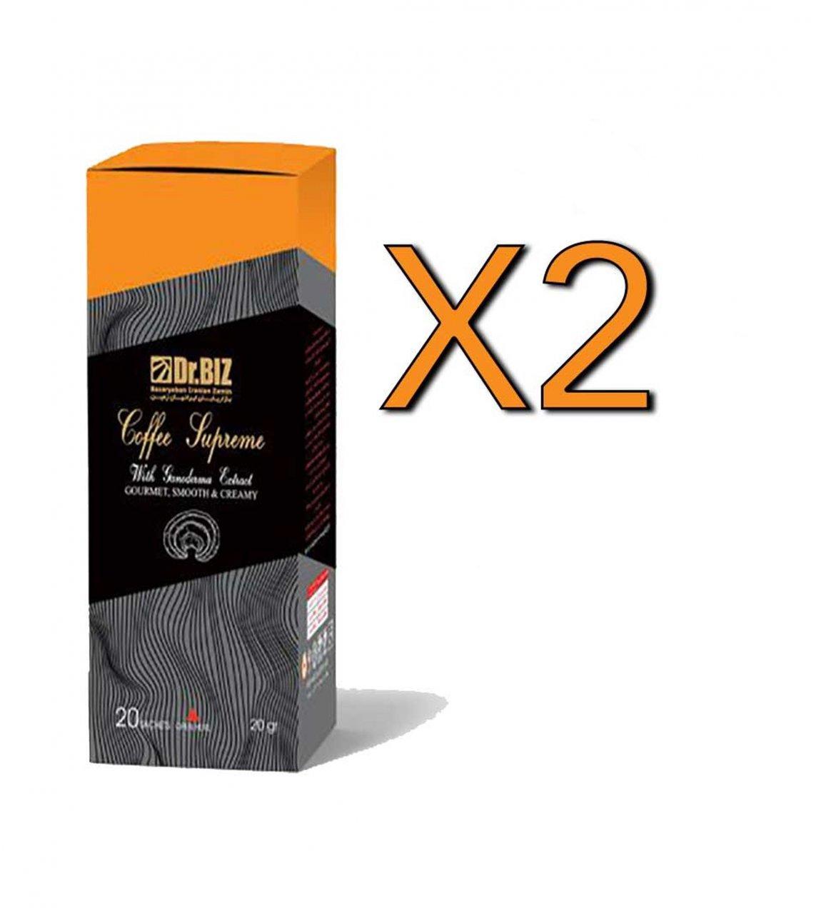 پک 2 عددی کافه سوپریم با قارچ گانودرما دکتر بیز ارسال رایگان