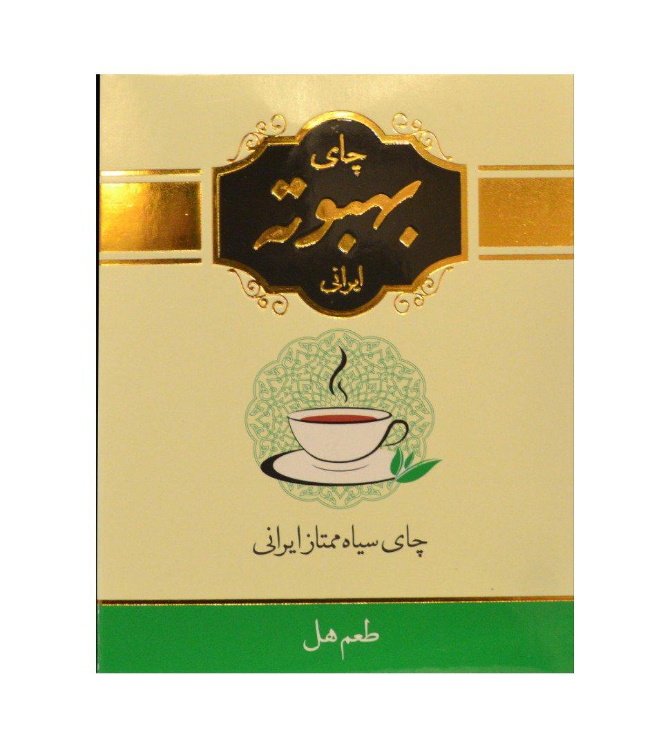 چای سیاه بهبوته ایرانی با طعم هل 400 گرم