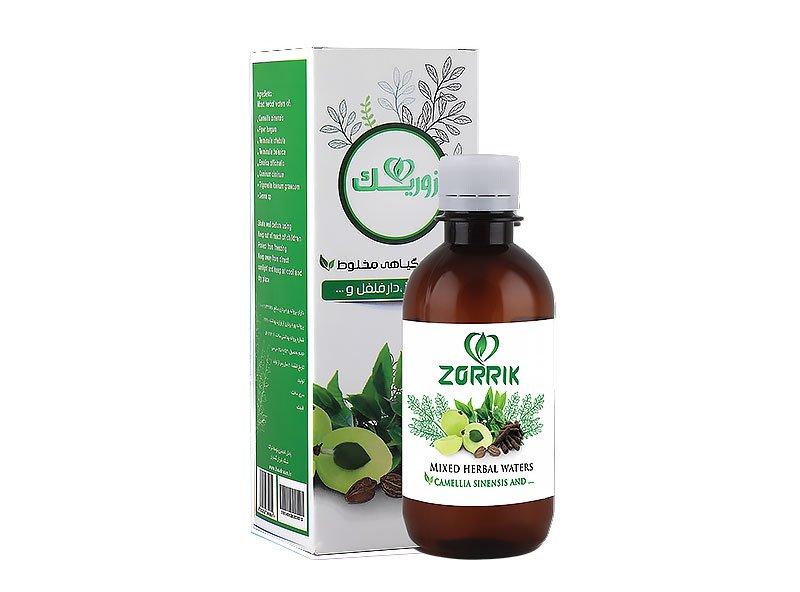 عرق گیاهی مخلوط چای سبز و دارفلفل زوریک