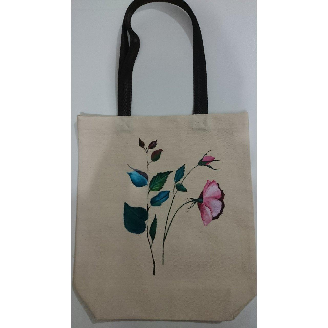 کیف خرید دست دوز طرح گل