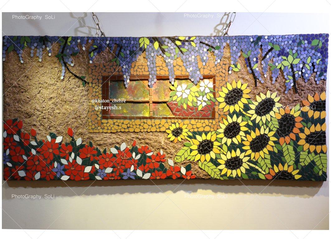 تابلو معرق کاشی طرح کوچه باغ
