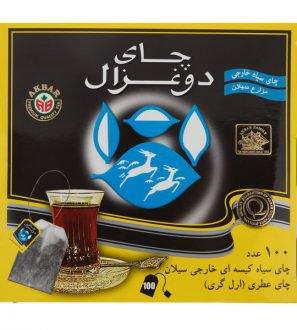 چای کیسه ای عطری 100 عددی دوغزال