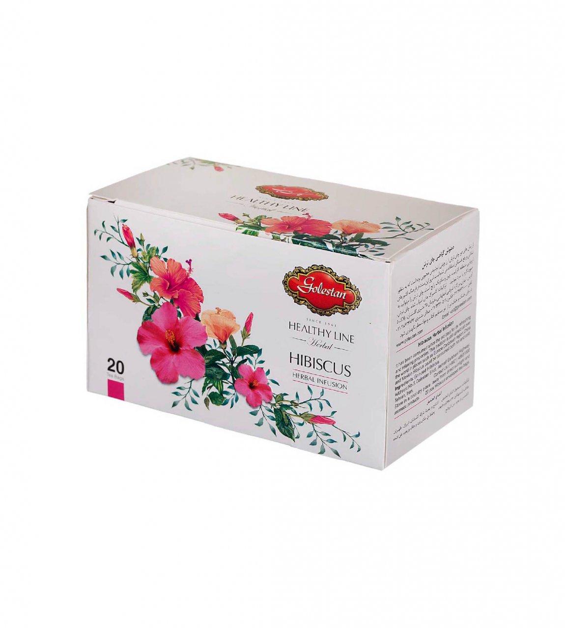 دمنوش چای ترش کیسه ای 20 عددی گلستان