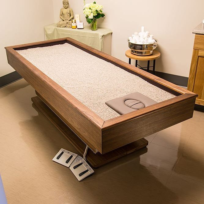 تخت هوشمند ماساژ شن داغ