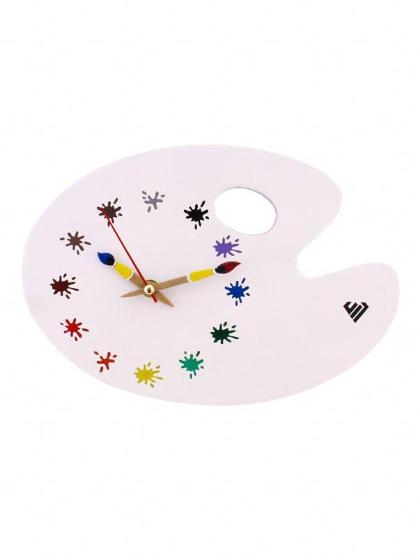 ساعت دیواری طرح تخته رنگ نقاشی ( دال )