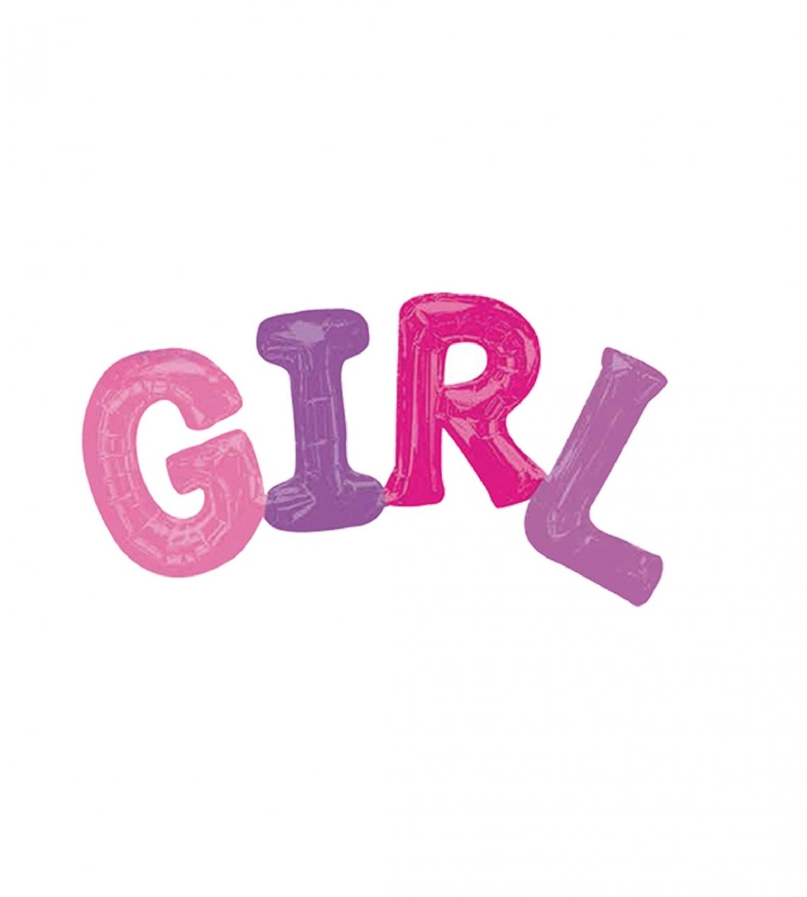 بادکنک فویلی GIRL (حروف دختر)