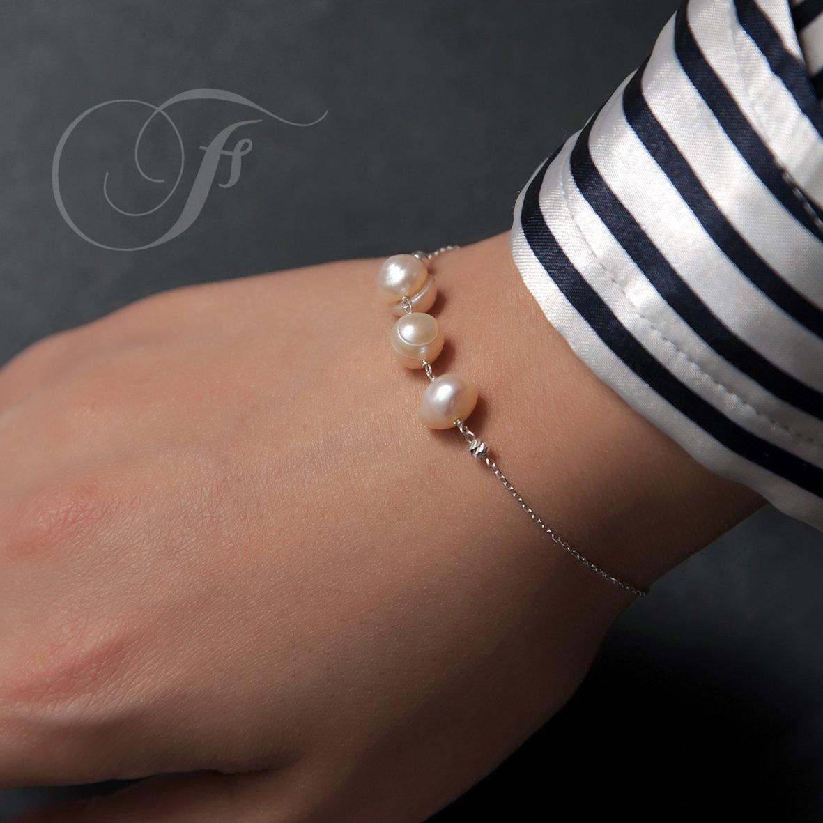دستبند نقره طرح خيال