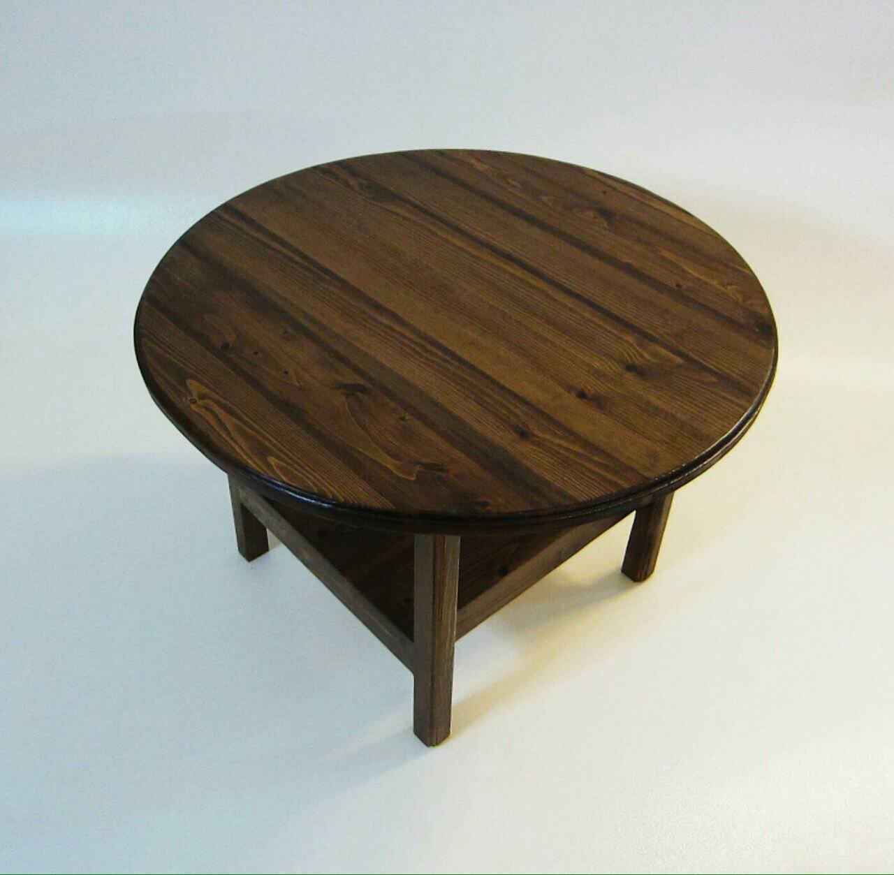 میز گرد تمام چوب
