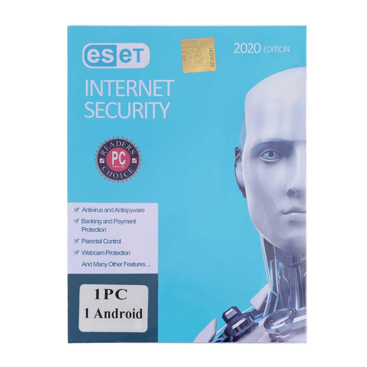 آنتی ویروس ESET INTERNET Security 2020 EDITION -اورجینال (1PC+1Android)