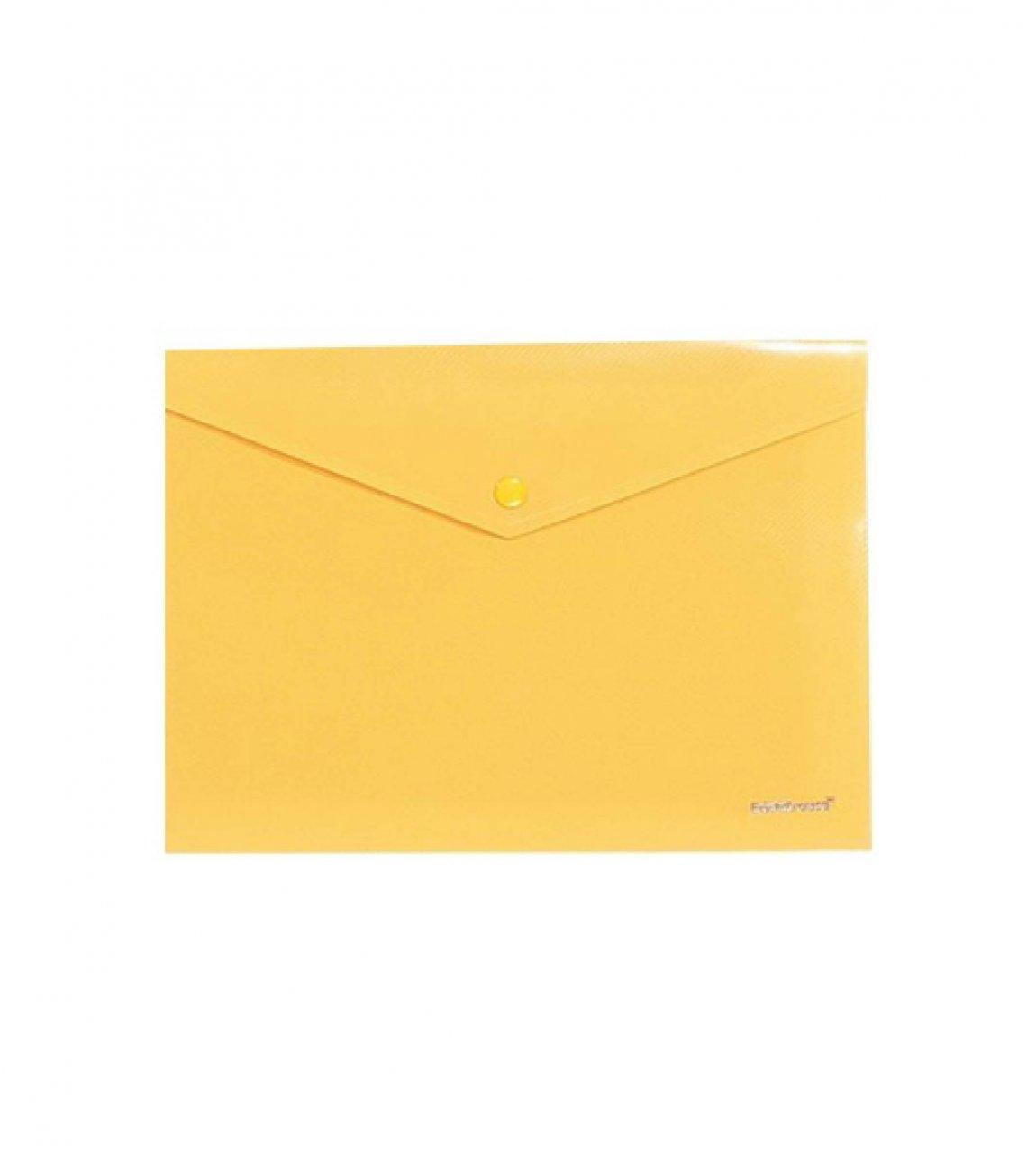 پوشه دکمه دار سایز A4 رنگ زرد