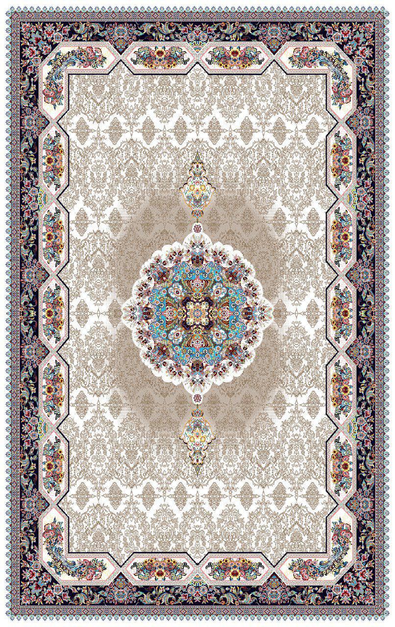 فرش نقش هالیدی کرم رنگ 700 شانه 12 متری
