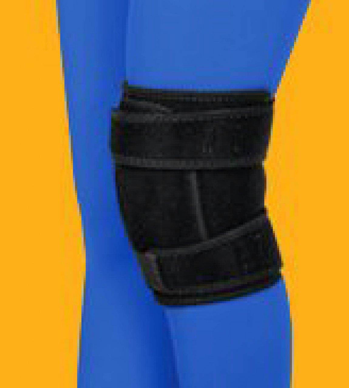 زانو بند ورزشی پد دار طب و صنعت تک سایز کد 41300